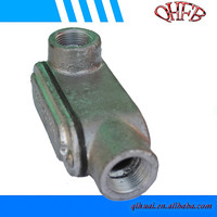 LL/LB/T cast iron conduit body galvanized conduit outlet bodies