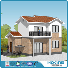China Light Weight Steel Frame Building House Luxury Prefab Villa Made by Factory