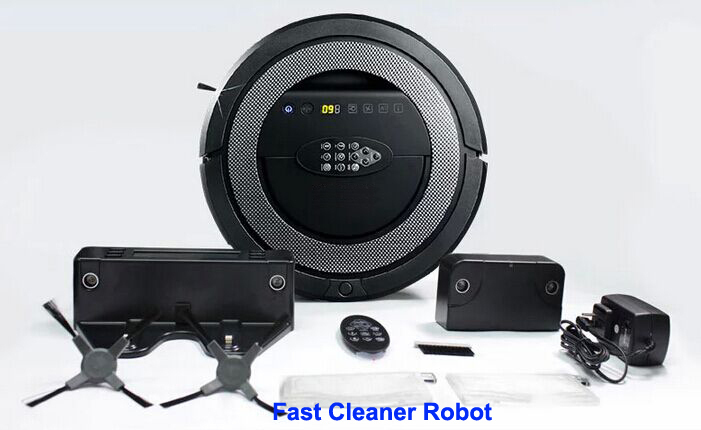 2017 Newest High Class 6 In 1 Multifunctional Robot Vacuum Cleaner With Double V-shaped Rolling Brush