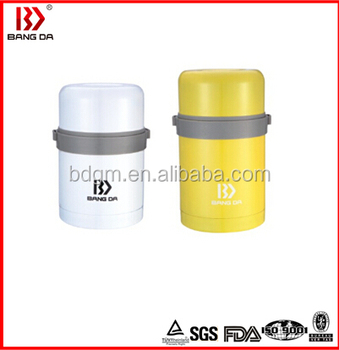 colour spray stainless steel vacuum food jar keep food hot with a pouch,thermos for hot food