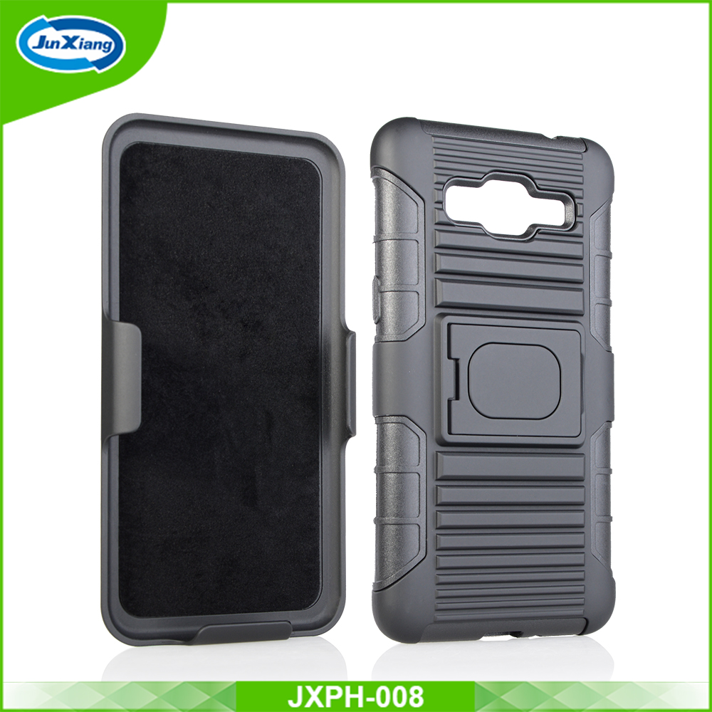 China supplier 3 in 1 PC TPU robot holster kickstand case for samsung galaxy grand prime g530