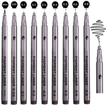 waterproof Black Micro-line Pen for Drafting - Ultra Fine Point Technical Drawing Pen Set, Anti Bleed Fineliner Pen