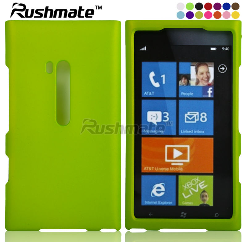 For Nokia Lumia N900 Neon Green Cell Phone Hard Cover
