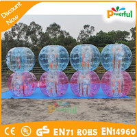 2015 crazy and durable PVC/TPU giant inflatable body soccer ball/human inflatable bumper bubble ball for sale