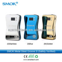 Alibaba hot sale groove mod Smotech vv vw ecig groove ii ecigarette box mod with built-in 3800mah rechargeable battery