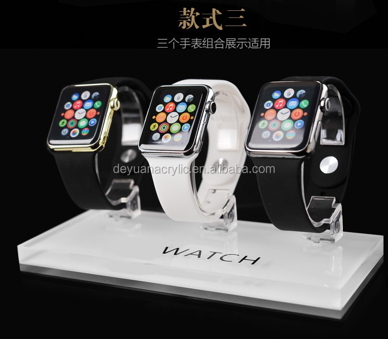 Crystal Acrylic Watch Display With Price Tag Holder