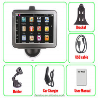 Universal Car GPS 5.0 Inch Navigation System with fm av 4g free new maps