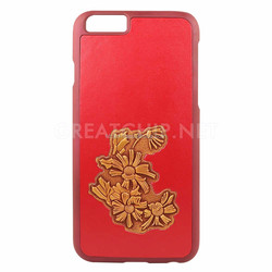 Emboss Flowers Soft 100% genuine Leather case for iphone 6 6 plus new cover