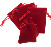 high quality wholesale promotional gift bags jewelry velvet bag pouch custom logo/size/color