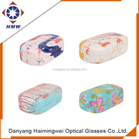 factory price fashion hot sell personalized hard pu leather contact lens case,folding glasses case