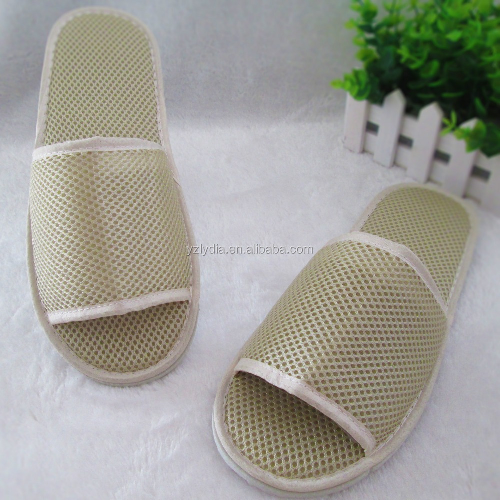 Hotel Type Luxury Slipper for Bathroom Unisex Disposable Slippers Open Toe Spa Flat Shoe