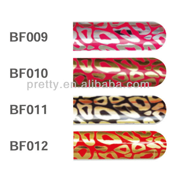Artificial Nail Factory Crystal Nail Art Stickers 16pcs Leopard Design Nail Foils