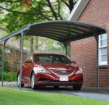 Newest mordern design solar carport with aluminum frame 2 Car Metal Frame Attached Carport with arched roof