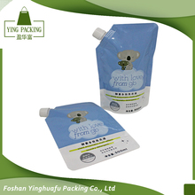 Customized reusable Juice drink food plastic bag spout pouch bag with own logo