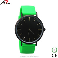 Western silicone japan movt wrist watch for men and women