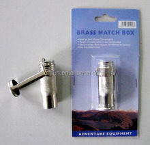 Outdoor small brass old-fashioned match safe
