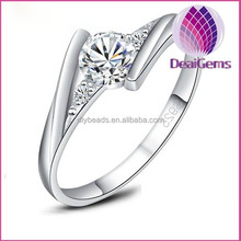 Wholesale high quality women zircon 925 sterling silver wedding ring