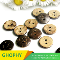 2 Holes Fashion Real Natural Corozo Button For Garment