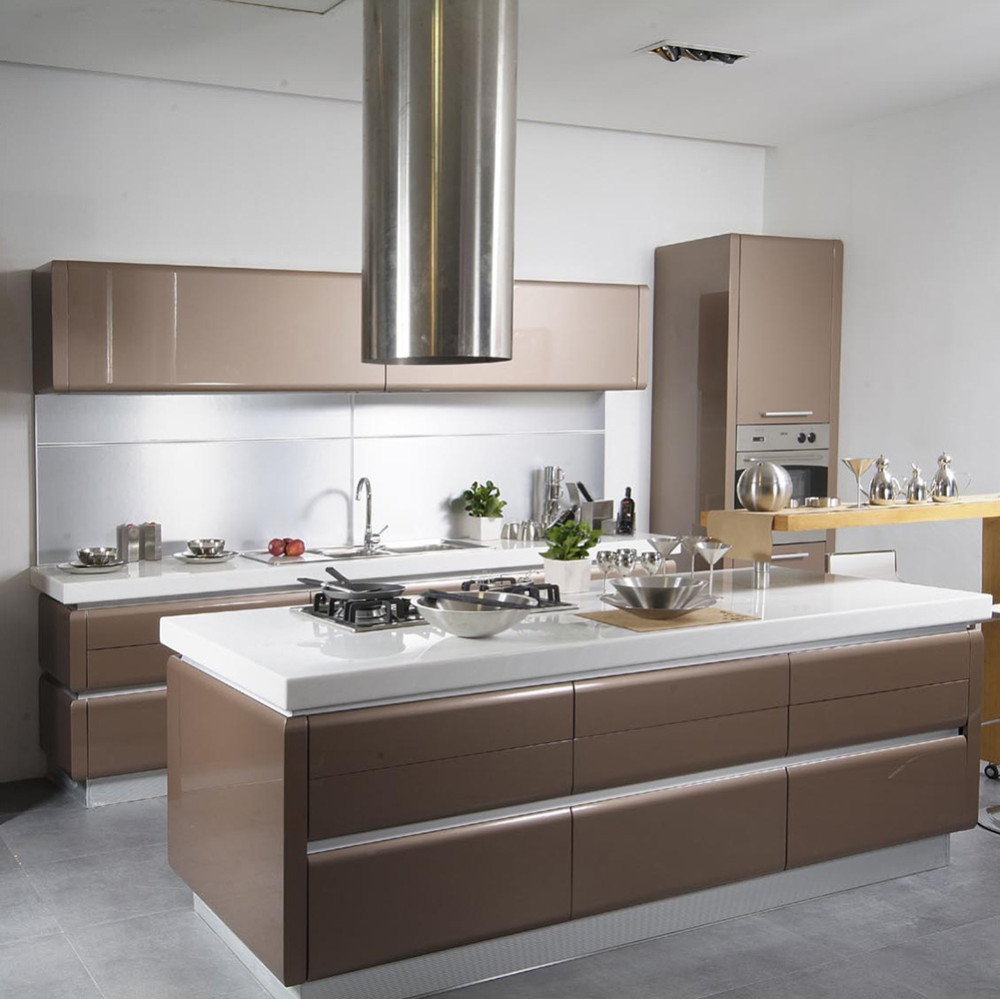 Aluminium Handle Modern Kitchen Cabinet Designkitchen Cabinet - Modern-designer-kitchens-plans