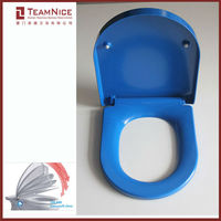 blue toilet seats soft closing system