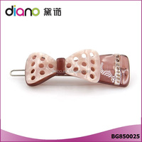 High Quality Acetate Plate Hollow Bowknot Fancy Hair Clips