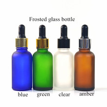 essential oil 5ml 10ml 15ml 30ml 50ml 100ml matte frosted white black amber clear glass dropper bottle with glass pipette
