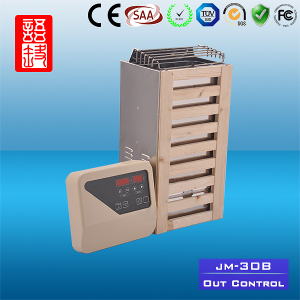 Safety Dry Sauna Room Equipment fan wood stove