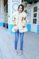 Common Style Lake Wool Garments Double Face Lamb Fur Coat Brown for Lady