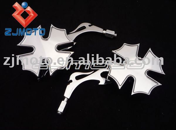 Motorcycle Mirrors Universal Motorcycle Streetfighter Flame chrome Mirror Street Bikes Mirror