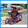 steel two seat bicycle quadricycle for sale