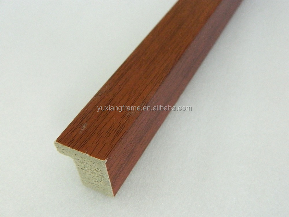 wood color mini size plastic picture frame profiles mouldings China
