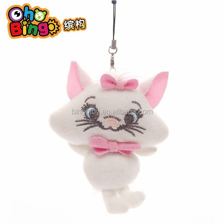 Lovely Promotional Plush Keychain Cat Stuffed Animal