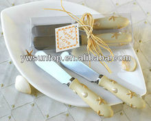 Beach theme double butter knife spreader wedding decoration