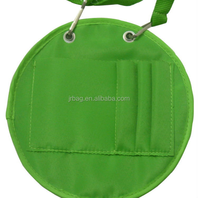 Green Square PVC Pocket Hanging Neck bags pen holder Pouches