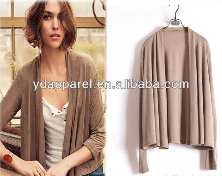2013 new style Lady short-length open front draped cardigan,long sleeve shawl,viscose modal bolero shrug