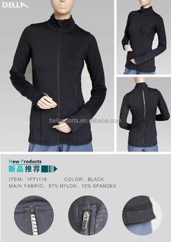 High Quality Ladies Running Zipper Jacket Workout Jacket