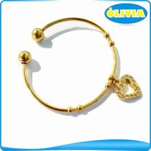 Olivia indian bangle jewelry, 1 gram gold plated bracelets bangles