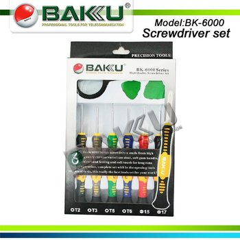 Soft Gum Handle Screwdriver set BK-6000