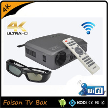 HD1080P DLP LED Multimedia Home Theater Cinema Projector Cinema with AV USB
