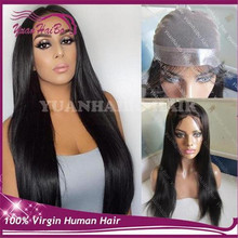 Hot sale 1b silky straight brazilian remy hair pu around perimeter thin skin full lace wig free shipping