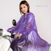 Factory Price Fashion Long Sleeves PVC Raincoats for Women