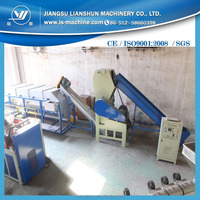 plastic waste PE PP sheet crushing washing recycling machinery