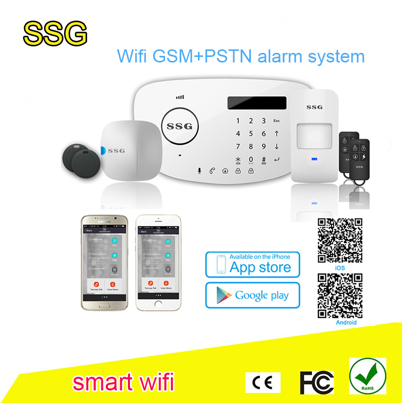 2016 hot sell WiFi GSM+PSTN Alarn system T6-L smart wireless home automation burglar security commercial and residential burglar