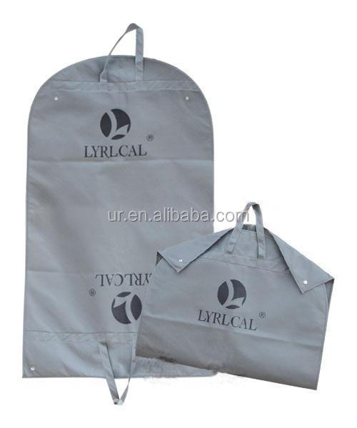 Folding traveling custom design garment bag non woven printed logo suit cover