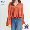 Yihao 2016 Summer Latest Designs Ladies New Designs Tie Tops Fashion Girls Long Sleeve Casual Blouse For Women Alibaba