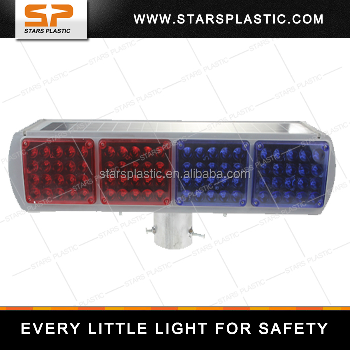 IP67 Double Side Powered Portable Traffic Flashing Solar Strobe Light SWL-A33-002
