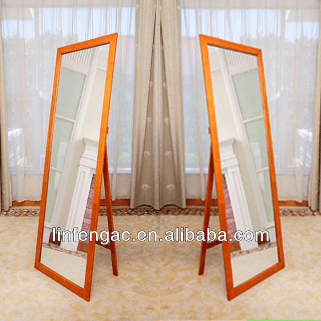 Full-length decent fashionable wood framed dressing cheval mirror