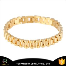 wholesale stainless steel gold color chain bracelet jewelry