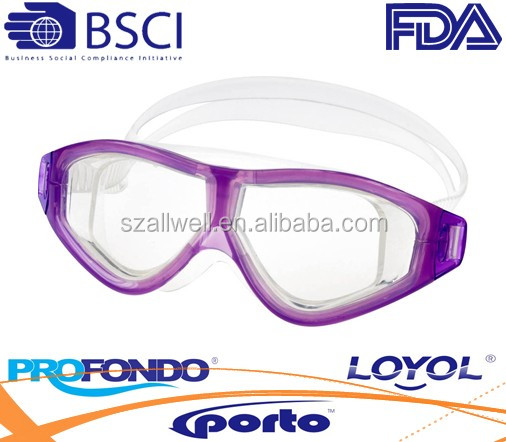 Silicone racing swim goggle with ultra comfort