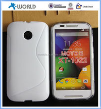 S-line tpu case for moto e, for Moto E S-Line Translucent Clear TPU Gel Case Back Cover